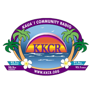 KKCR - 90.9 FM Kaua'i Community Radio Logo